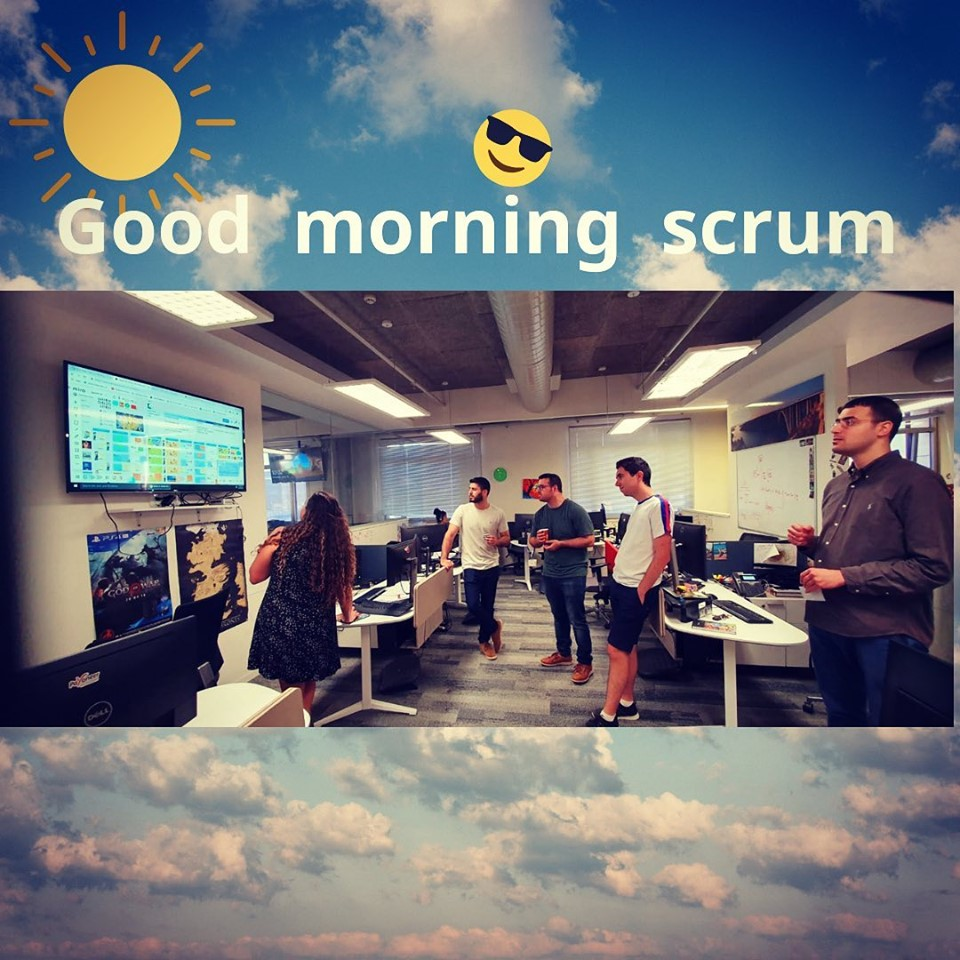 scrum team in the moprning Gallery