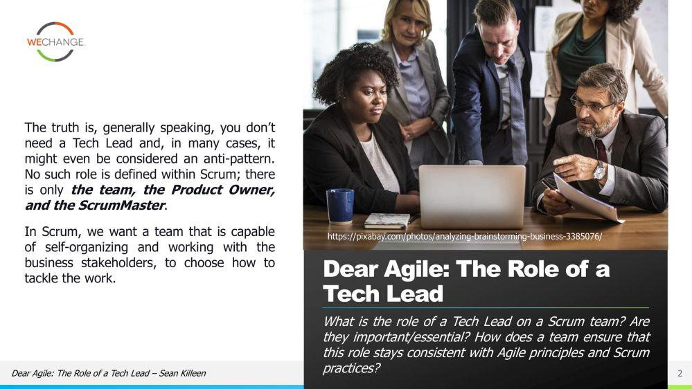 The role of the tech lead in agile 02 compressed Whats the role of the tech lead in agile?