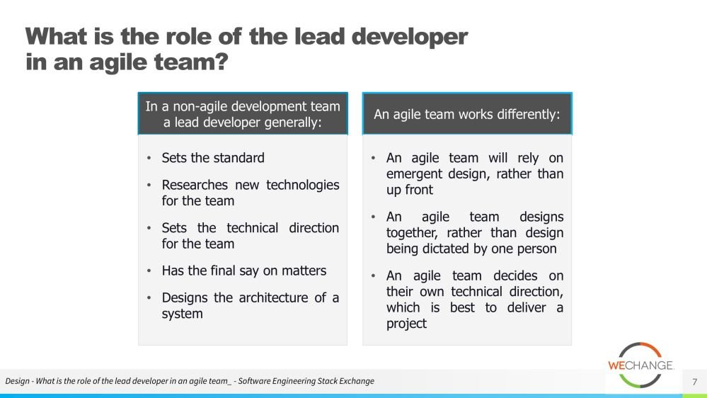 The role of the tech lead in agile 07 compressed Whats the role of the tech lead in agile?