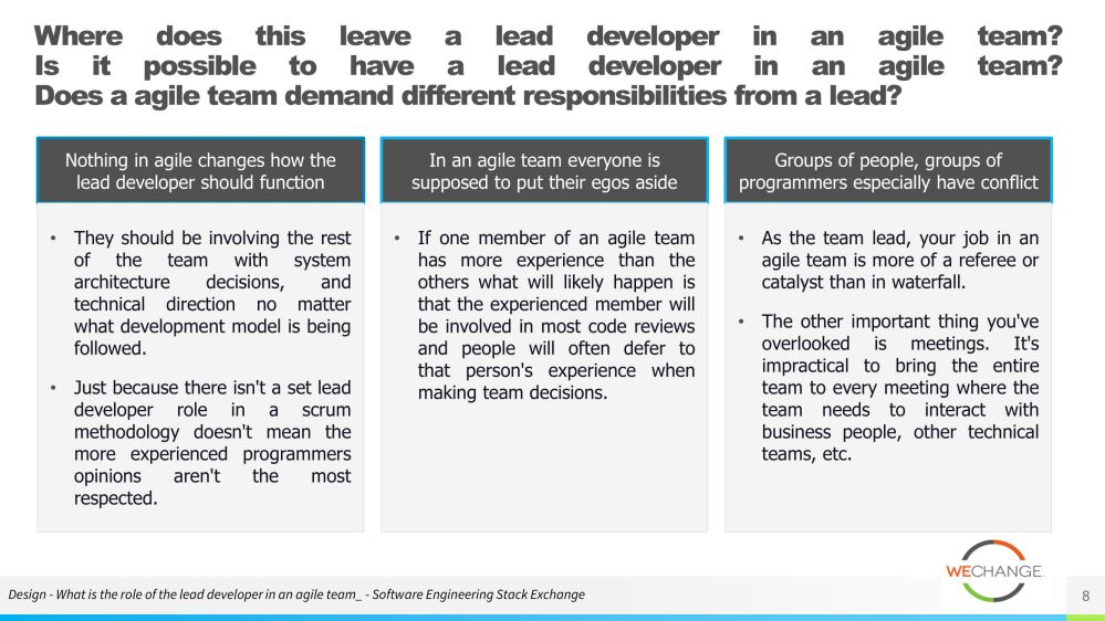 The role of the tech lead in agile 08 compressed Whats the role of the tech lead in agile?