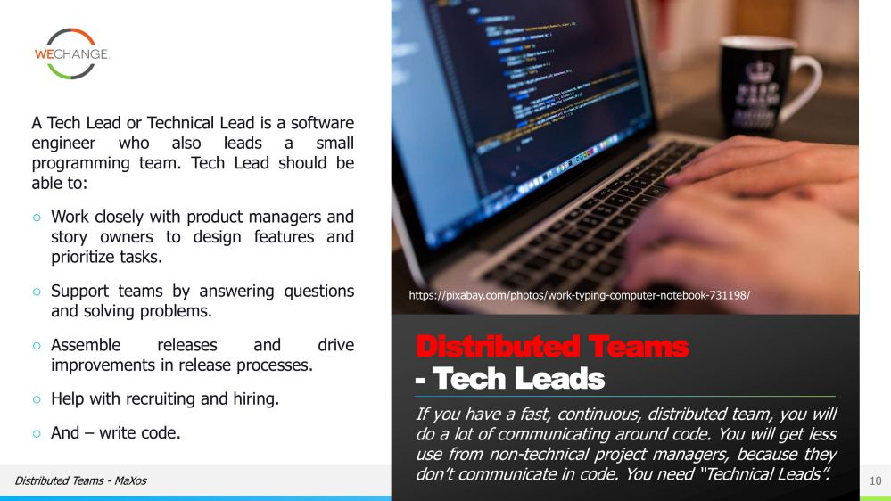 The role of the tech lead in agile 10 compressed Whats the role of the tech lead in agile?